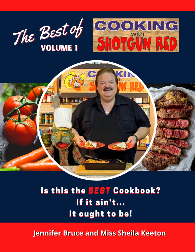 Front Cover The Best of Cooking with Shotgun Red