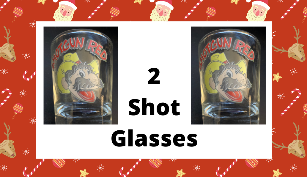 2 Shotgun Red Shot Glasses
