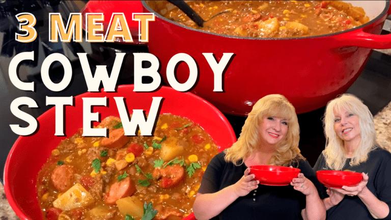 3 meat cowboy stew
